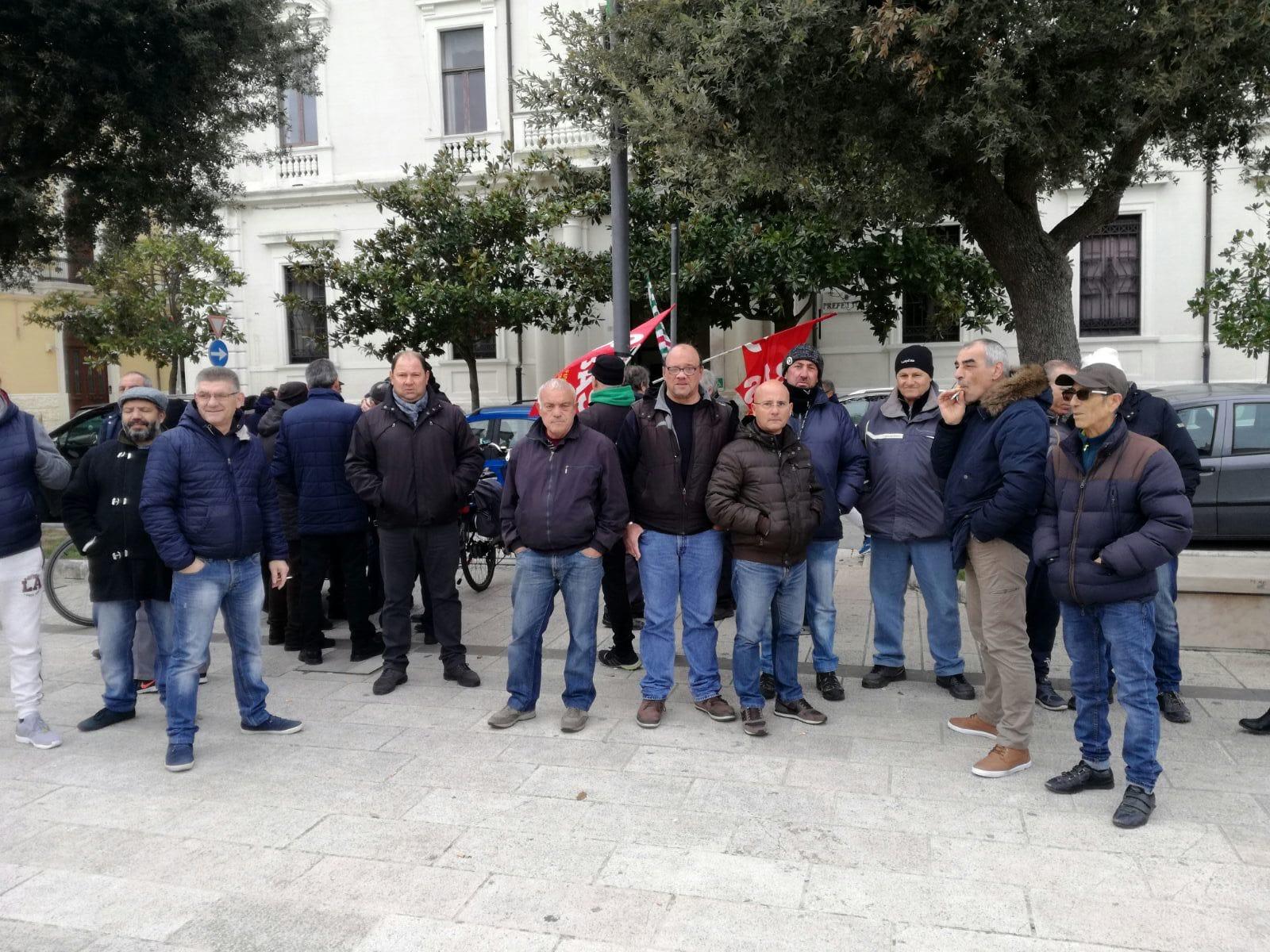Protesta lavoratori ex Lsu Ata-2