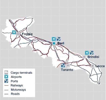 Cartina Aeroporti Puglia.Porti Pugliesi Un Sistema Integrato