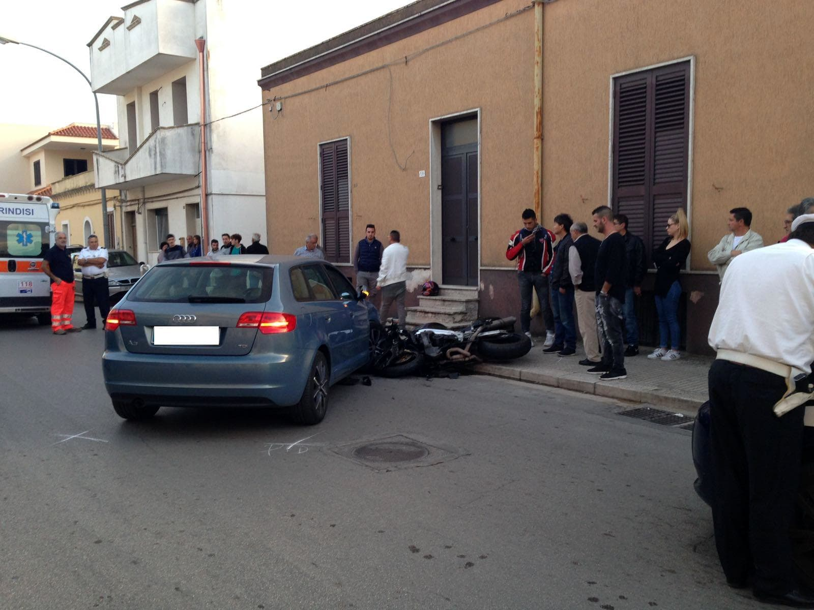 Incidente via San Donaci, Mesagne-2
