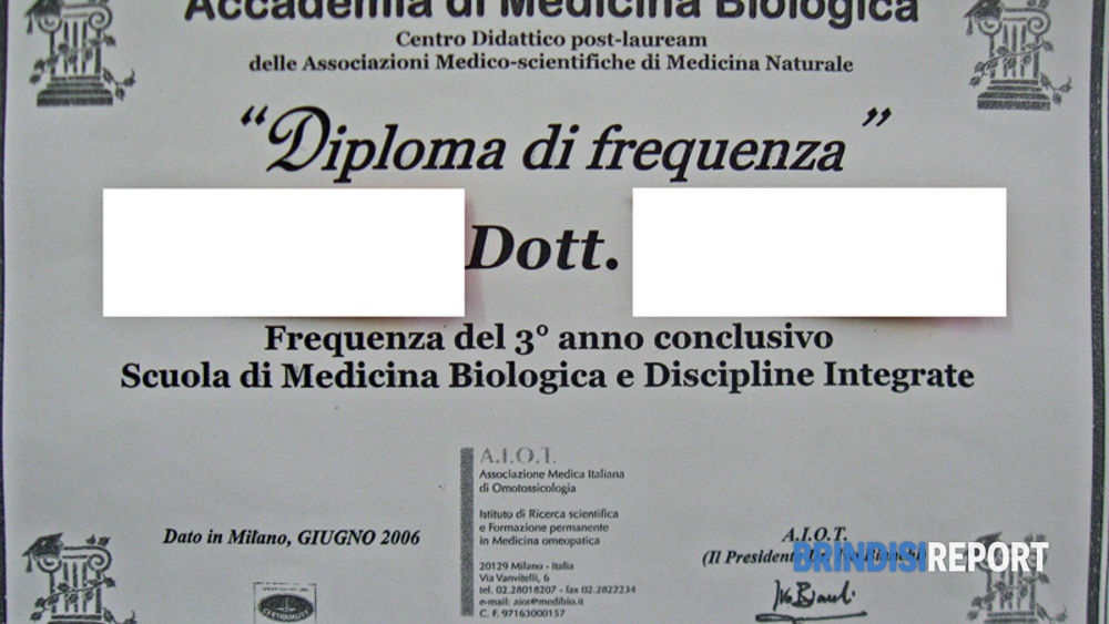 Il diploma falso