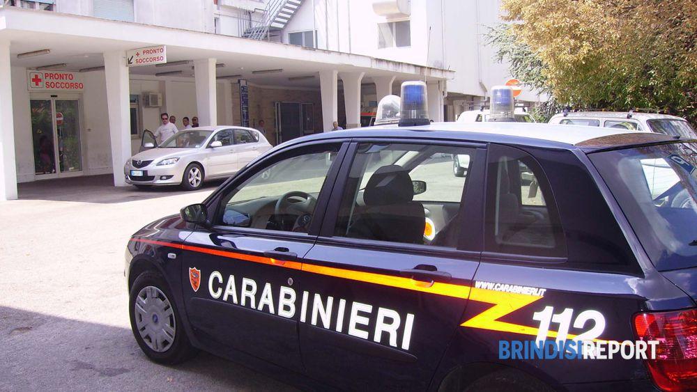 Carabinieri al Pronto soccorso di Ostuni