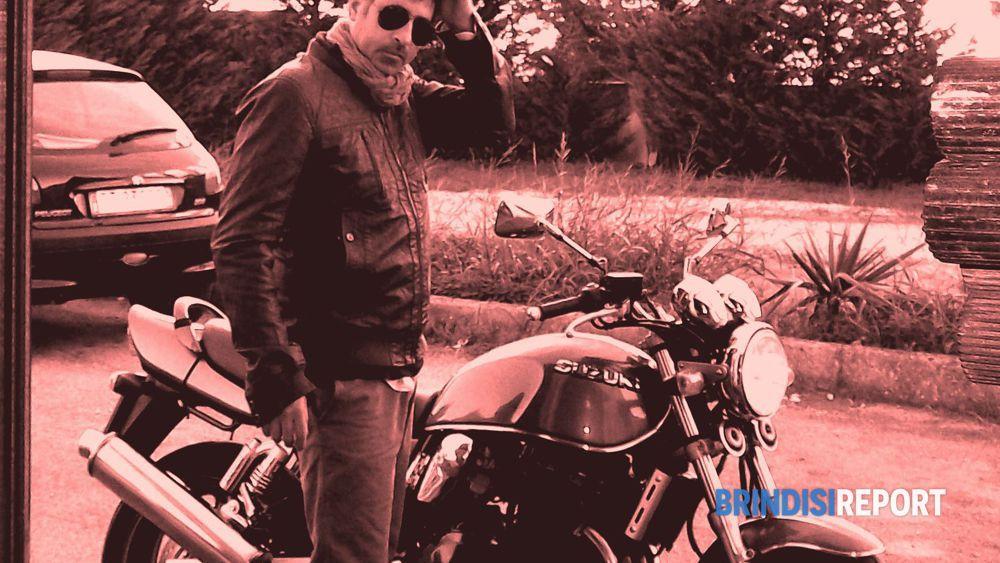 Pierri con la sua moto