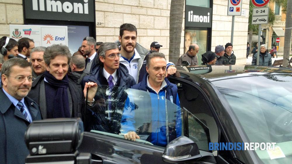 I sindaci Mimmo Consales e Paolo Perrone con Bucchi, Zerini e Marino
