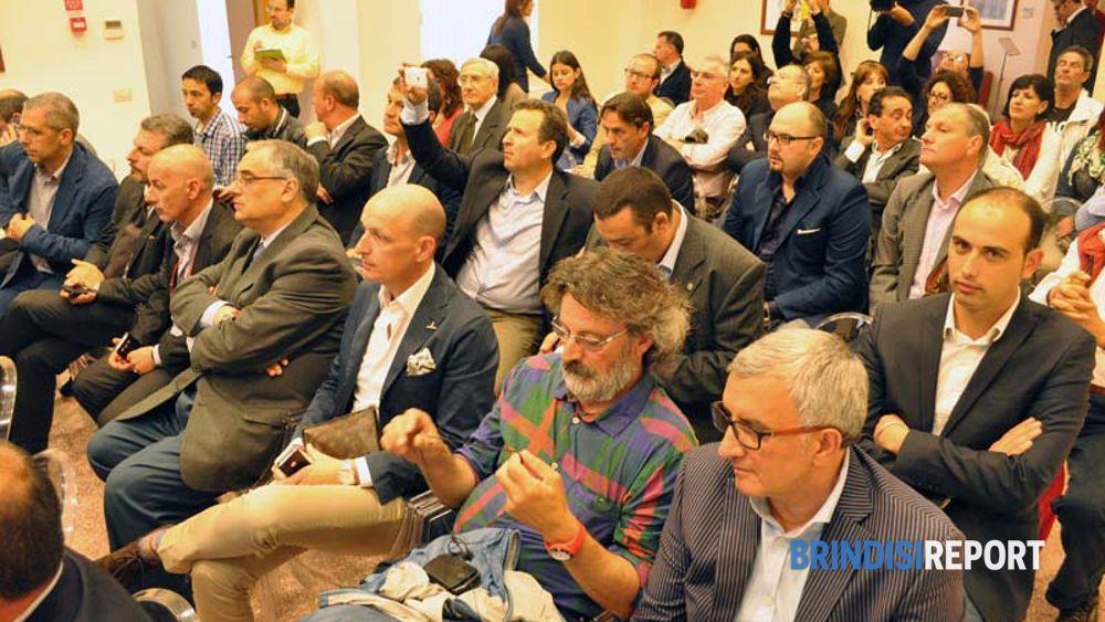 Il pubblico dell'incontro al Comune