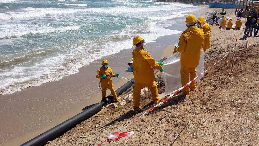 Esercitazione della Protezione civile sulla spiaggia di Apani 2-2