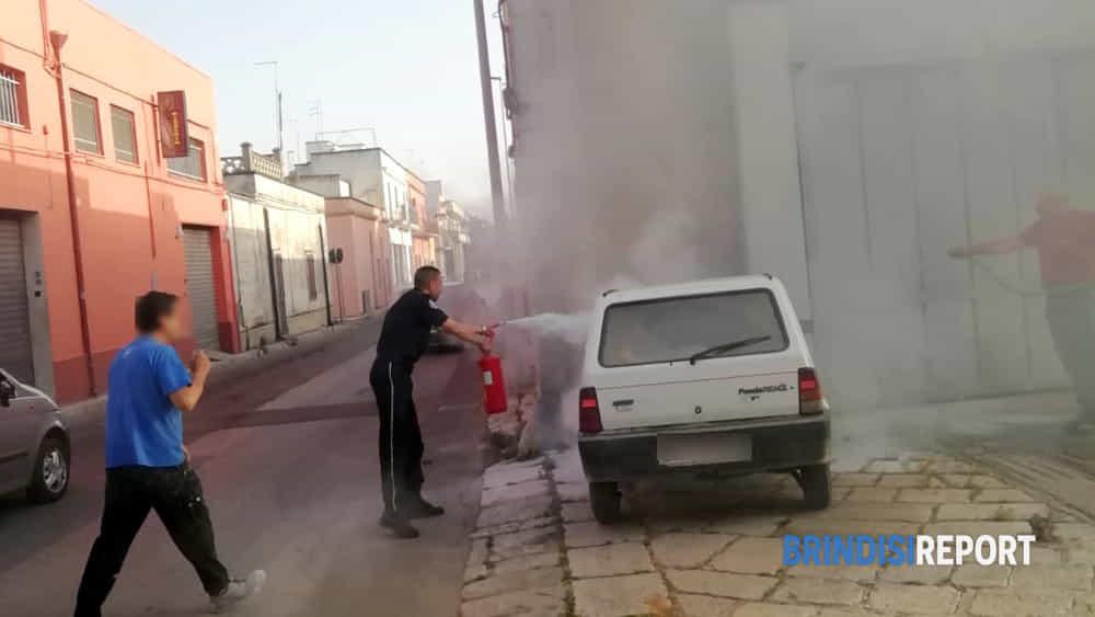 incendio auto san pietro via principe amedeo3-3