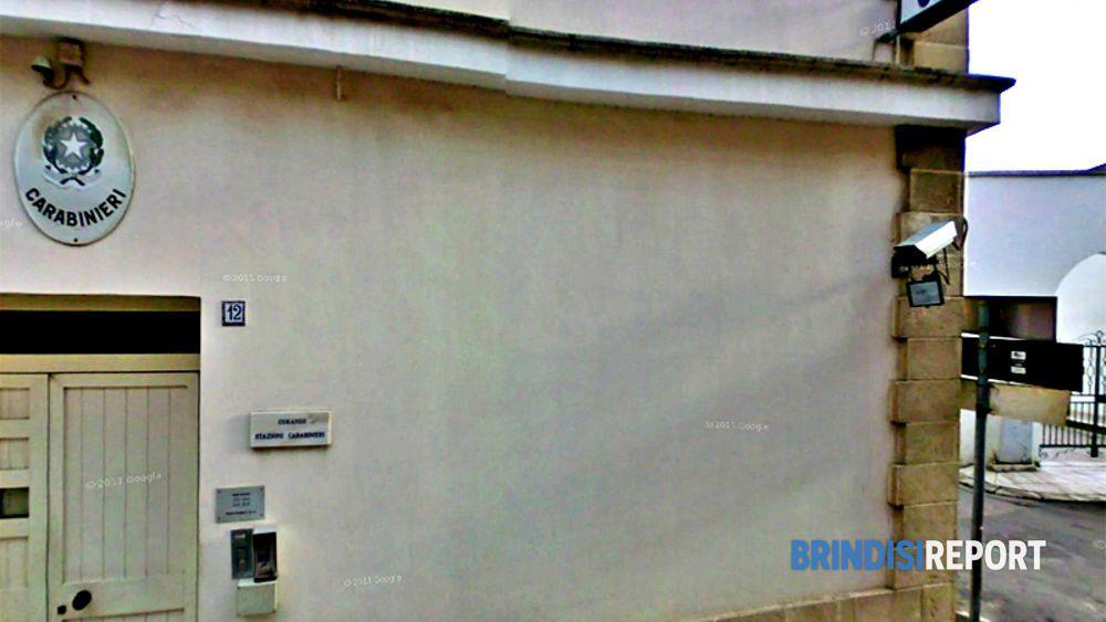 La stazione carabinieri di Torchiarolo