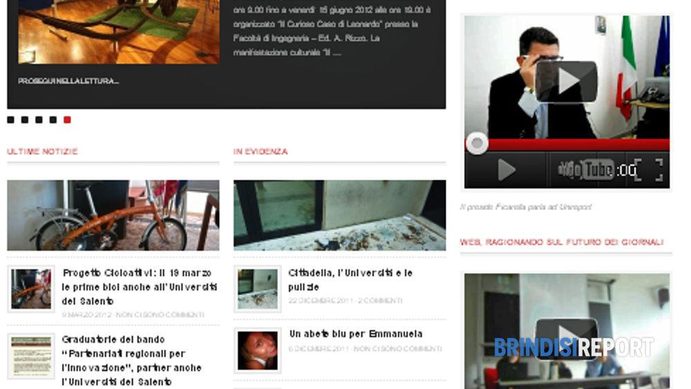L'home page di Unireport