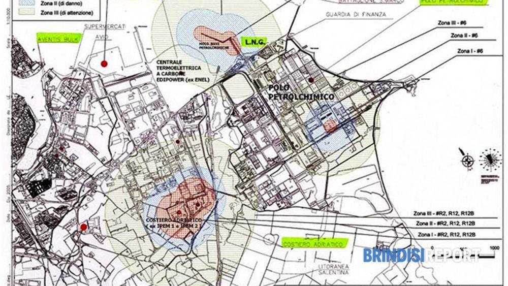 La mappa del rischio a Brindisi