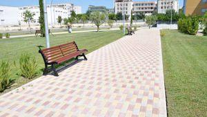 Un vialetto dei nuovi giardini pubblici a Bozzano