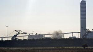 Dispersione di polveri il 25 agosto 2012