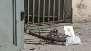 Frammento della bici-bomba del 24 febbraio 2008