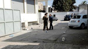 Il luogo dell'attentato con la bici-bomba