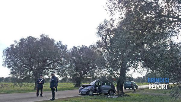 L'incidente sulla provinciale Tuturano-San Donaci