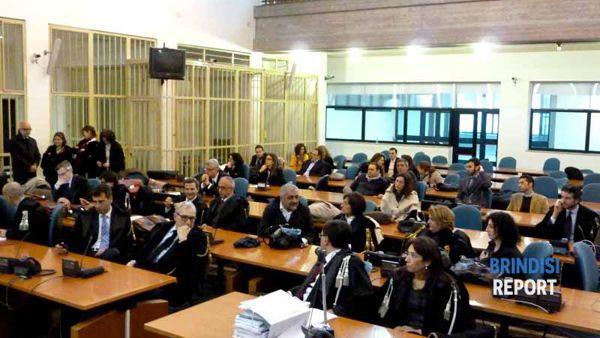 L'aula del processo prima della sentenza
