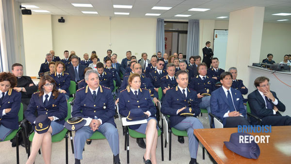 Una immagine della festa della Polizia Brindisi