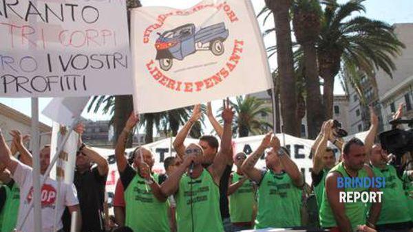 Il comitato dei cittadini che ha organizzato la protesta