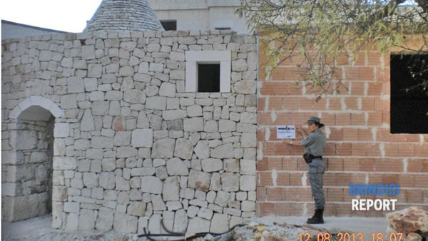 Il trullo sequestrato