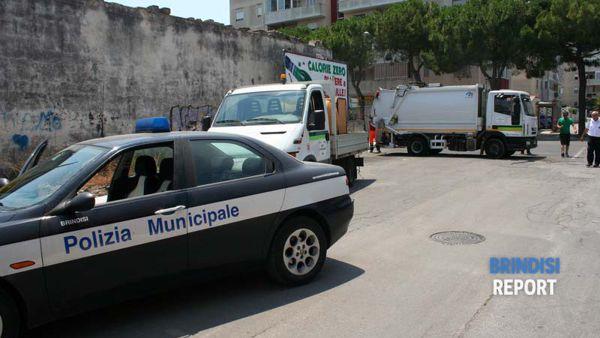 Intervento di vigili e Monteco