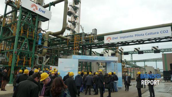 L'impianto di cattura della Co2 realizzato da Enel a Brindisi Cerano