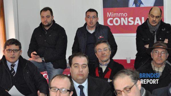 I segretari provinciali dei partiti a sostegno di Consales