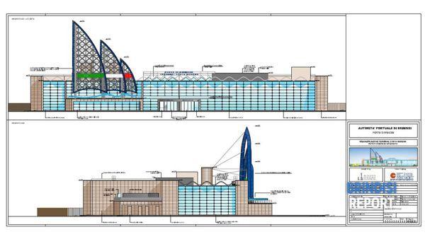 I prospetti est ed sud del nuovo terminal