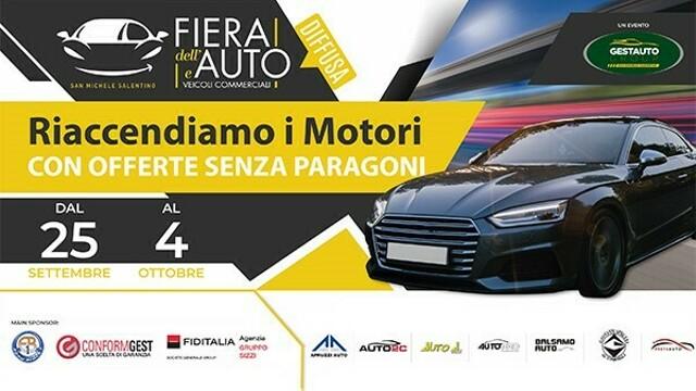 Riaccende i motori la FIERA DELL'AUTO di San Michele Salentino, oltre 1.000 auto a prezzi di occasione
