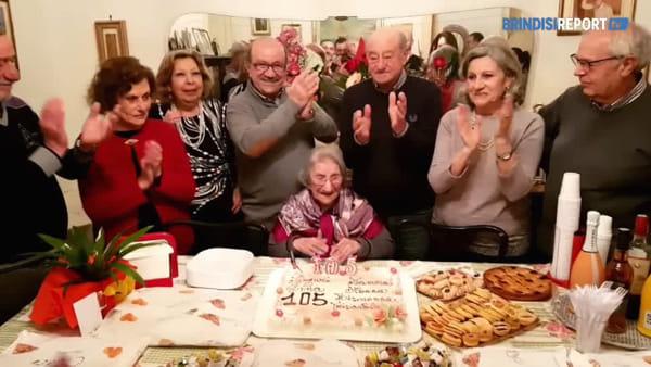 Il nuovo traguardo di Rosa Fioretti: 105 anni di gran carattere e pasti frugali