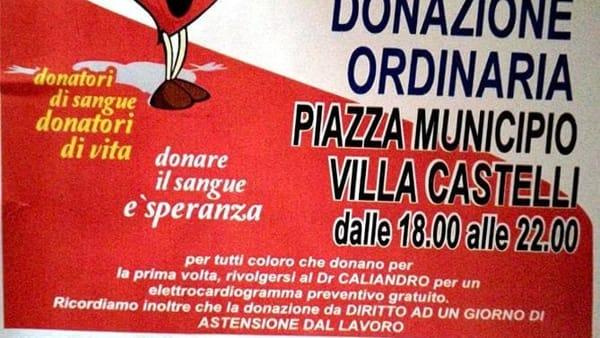 locandina donazione sangue villa castelli-2