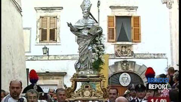 La statua di Sant'Oronzo