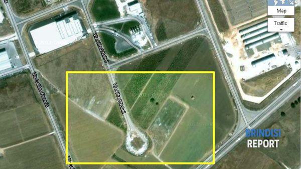 La rotatoria in una immagine da Google Maps
