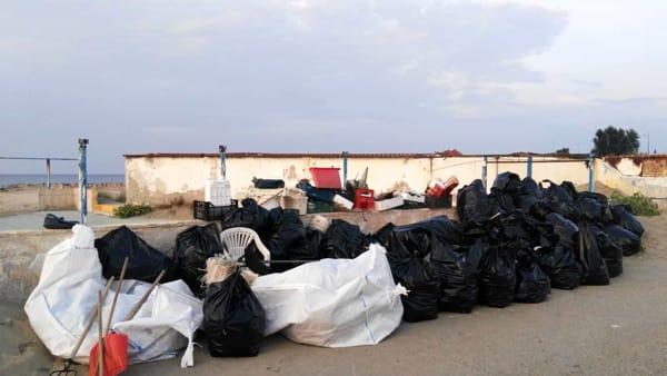 Pulizia spiaggia Giancola-3