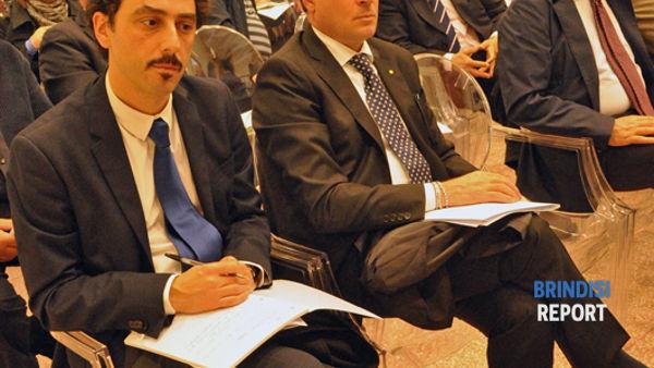 Il presidente di Confindustria, Marinò, e il consigliere regionale Giovanni Epifani