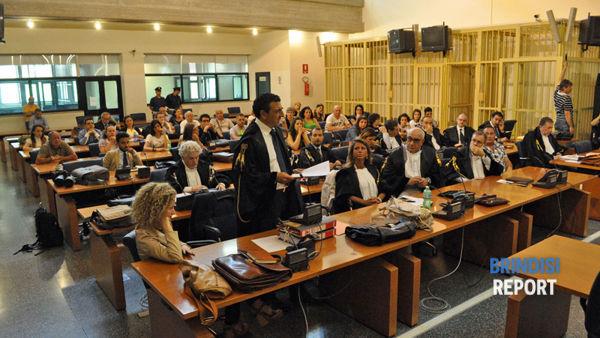L'aula del processo per la strage alla Morvillo, ultima udienza