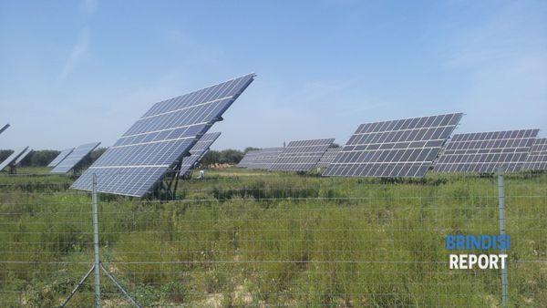 Un campo fotovoltaico a sud di Brindisi