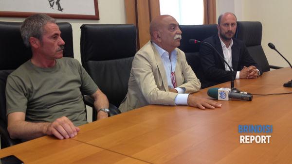 Da sinistra, Enzo Carbonella, Antonio Flora e Antonio Giunta