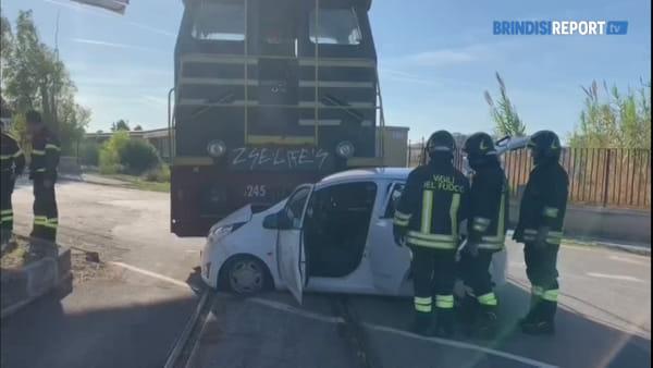 Incidente ferroviario al rione Perrino: spavento per quattro donne