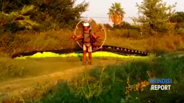 In parapendio a 55 anni: un brindisino volante e le sue spettacolari immagini