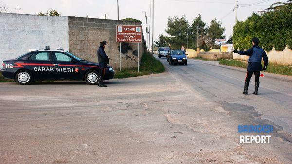 Posto di Blocco dei carabinieri della compagnia di Francavilla Fontana