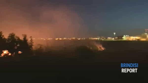 Zona industriale: i vigili del fuoco alle prese con un vasto incendio