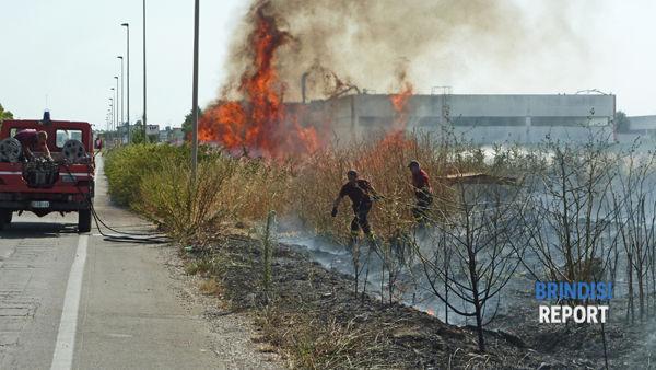 L'incendio lungo viale Fermi
