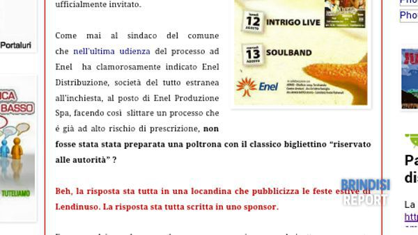 Il post di boicottaggio all'evento di Lendinuso