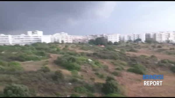 Anche la costa nord del Brindisino bombardata da enormi chicchi di grandine