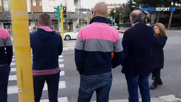 I tecnici del Giro d'Italia a Brindisi per visionare il tracciato della tappa