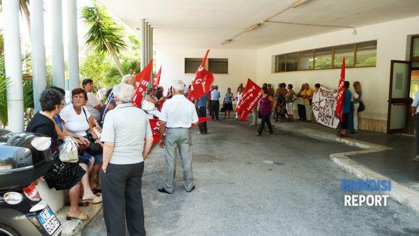 Alla protesta hanno partecipato i pazienti