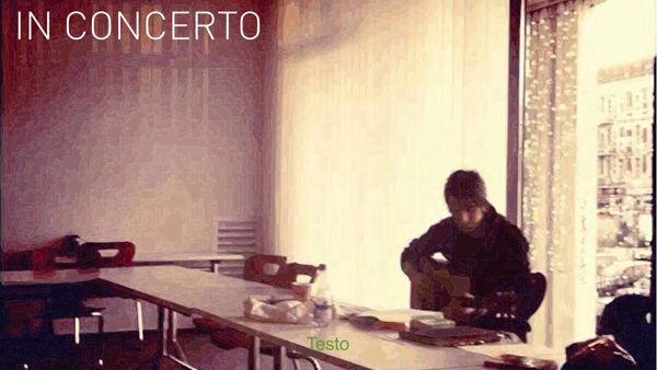 Il demo-tape di Tomaselli domenica live alla Manovella