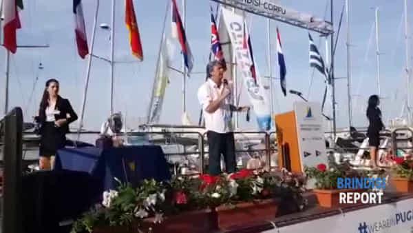 """Brindisi-Corfù, clima di festa in città: """"Orgogliosi della regata"""""""
