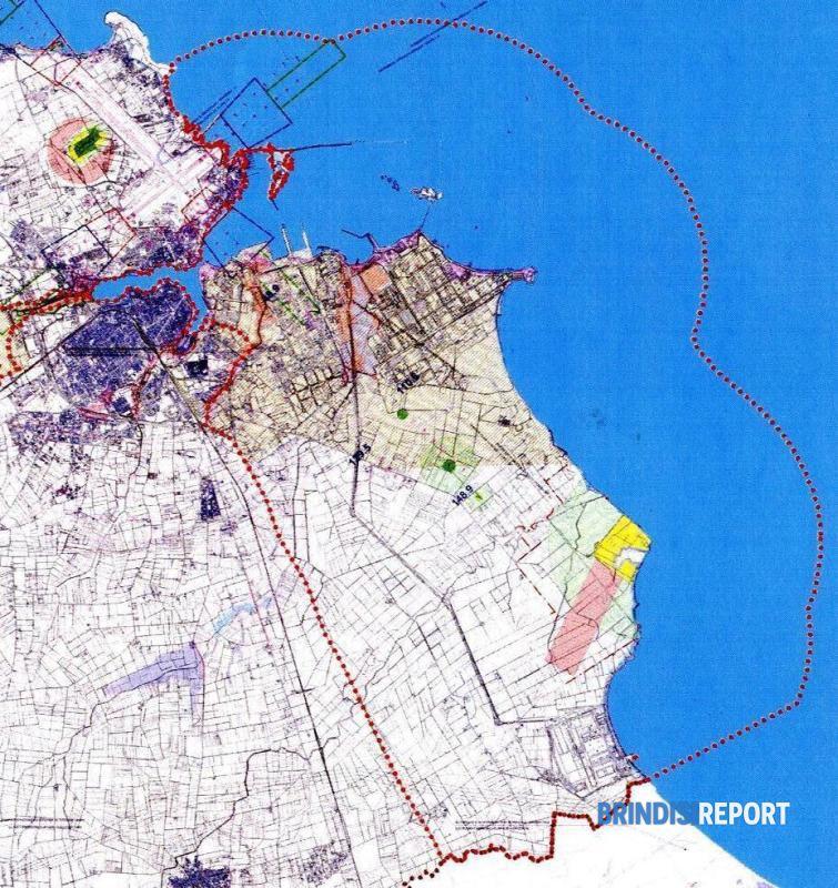 Il perimetro dell'area Sin di Brindisi