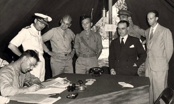 Firma armistizio a Cassibile-2