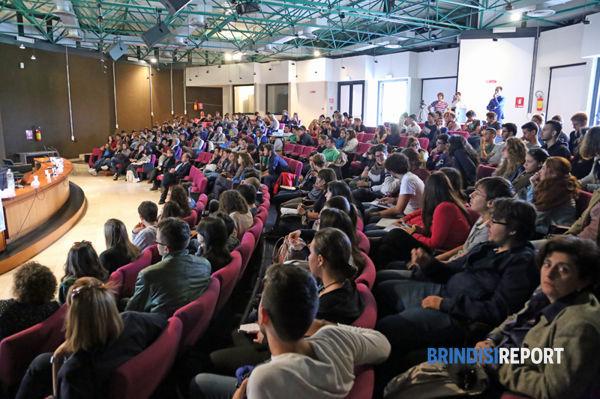 L'auditorium di Cittadella gremito di studenti